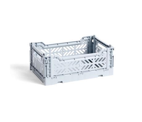 HAY Krat Colour Crate S Lichtblauw Kunststof 26,5x17x10,5cm