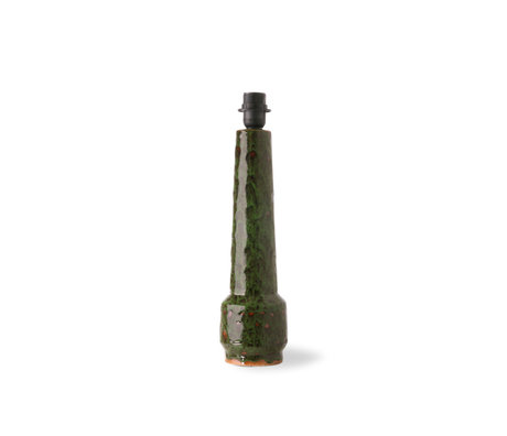 HK-living Lampenvoet Retro Stoneware Groen Aardewerk 11,5x11,5x45cm