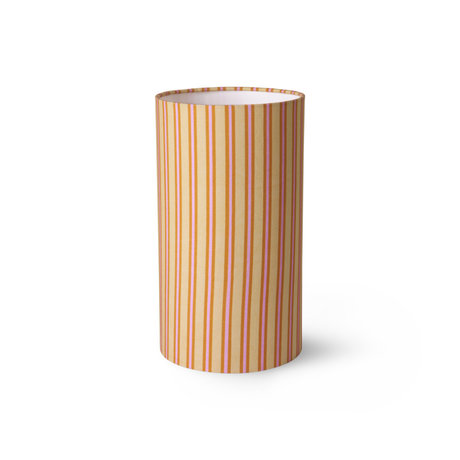 HK-living Lampenkap Printed Cylinder Stripes by Doris Multicolor Polyester Velvet ø22x40cm