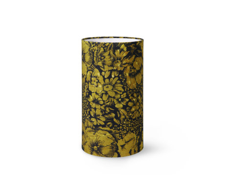 HK-living Lampenkap Floral by Doris Multicolor Polyester Velvet ø22x40cm