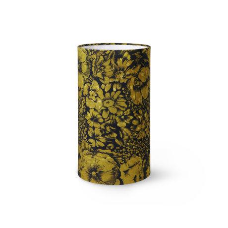 HK-living Lampenkap Printed Floral by Doris Multicolor Polyester Velvet ø22x40cm