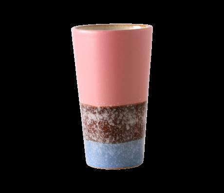HK-living Latte Mok 70's Reef Multicolor Keramiek ø7,5x13cm