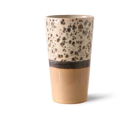 HK-living Latte Mok 70's Tropical Multicolor Keramiek ø7,5x13cm