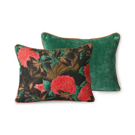 HK-living Sierkussen Doris Floral Multicolor Textiel 30x40cm