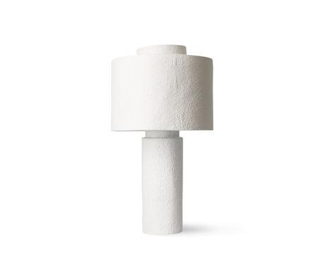 HK-living Tafellamp Gesso Mat Wit Aardewerk ø28,5x51cm