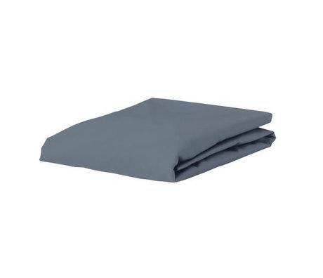 ESSENZA Hoeslaken Premium Jersey Fitted Sheet Lichtblauw Katoen 180/200x200/220cm
