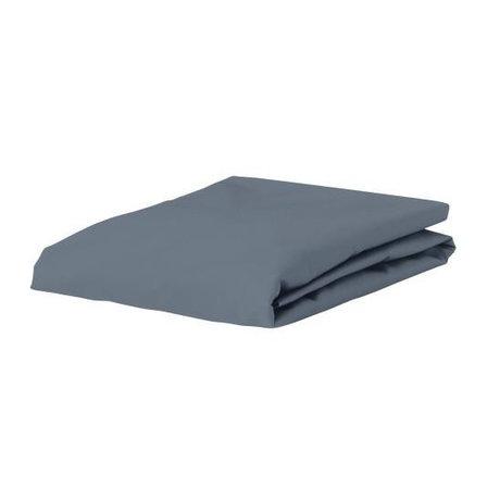 ESSENZA Hoeslaken Premium Jersey Fitted Sheet Denimblauw Katoen 90/100x200/220cm