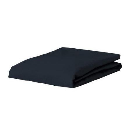 ESSENZA Hoeslaken Premium Jersey Fitted Sheet Donkerblauw Katoen 90/100x200/220cm