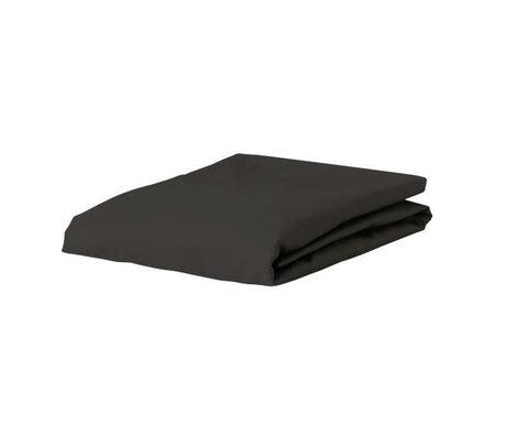 ESSENZA Hoeslaken Premium Jersey Fitted Sheet Antraciet Katoen 90/100x200/220cm