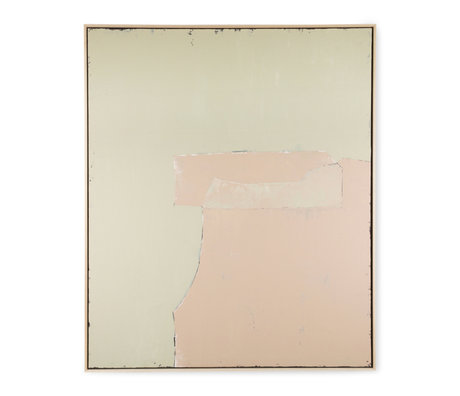 HK-living Kunstlijst Abstract Painting Olijf Nude Canvas Hout 100x120cm