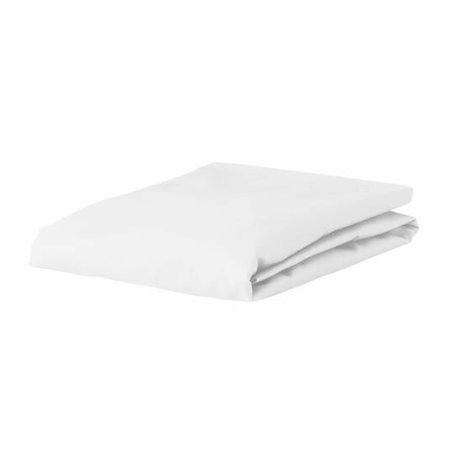 ESSENZA Hoeslaken Premium Jersey Fitted Sheet Wit Katoen 90/100x200/220cm