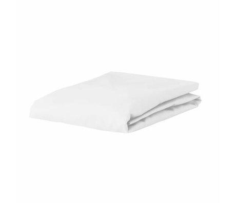 ESSENZA Hoeslaken Premium Jersey Fitted Sheet Wit Katoen 140/160x200/220cm