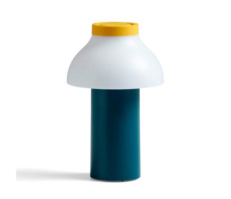 HAY Tafellamp PC Portable Ocean Multicolor Kunststof ø14x22cm