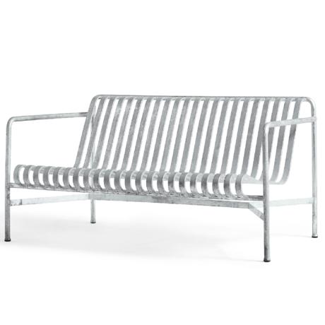 HAY Loungebank Palissade Zilver Verzinkt Staal 88x139x70cm