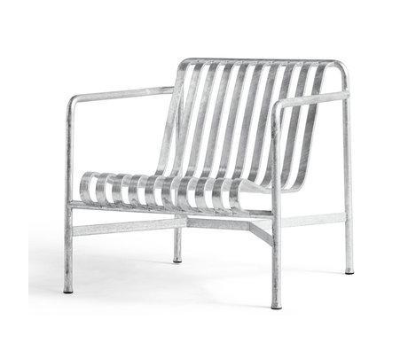 HAY Loungestoel Palissade Zilver Verzinkt Staal 92x73x88cm