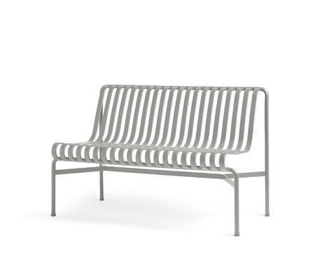 HAY Eetkamerbank Palissade Grijs Staal 70x120x80cm