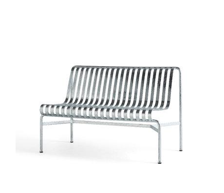 HAY Eetkamerbank Palissade Zilver Verzinkt Staal 70x120x80cm