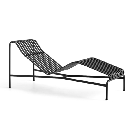 HAY Chaise Longue Palissade Antraciet Staal 164,5x65,5x70cm