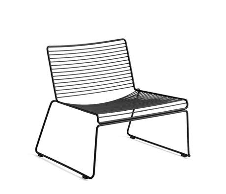 HAY Loungestoel Hee Zwart Staal 67x72x67cm