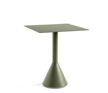 HAY Tafel Palissade Kegel Vierkant Groen Staal 65x65x74cm