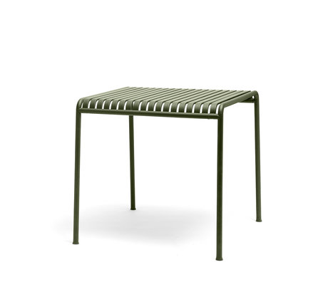 HAY Tafel Palissade Groen Staal 90x82,5x75cm