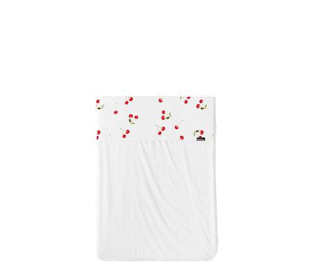 Snurk Beddengoed Laken Baby Ledikant Cherries Wit Rood Katoen 120x150cm