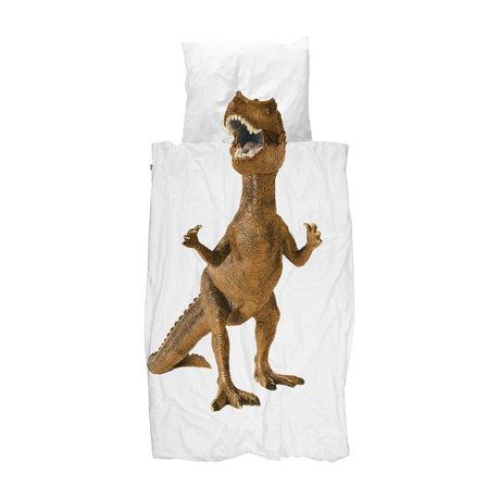 Snurk Beddengoed Dekbedovertrek 1-persoons Dino Brown Multicolor Katoen 140x200/220cm