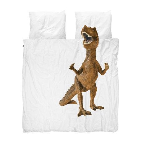 Snurk Beddengoed Dekbedovertrek Lits-jumeaux Dino Brown Multicolor Katoen 240x200/220cm