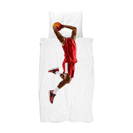 Snurk Beddengoed Dekbedovertrek 1-persoons Basketball Star Red Multicolor Katoen 140x200/220cm