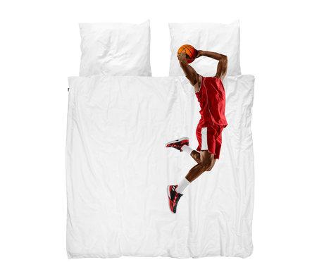 Snurk Beddengoed Dekbedovertrek 2-persoons Basketball Star Red Multicolor Katoen 200x200/220cm