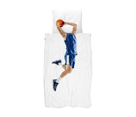 Snurk Beddengoed Dekbedovertrek 1-persoons Basketball Star Blue Multicolor Katoen 140x200/220cm