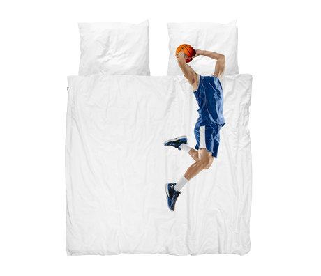 Snurk Beddengoed Dekbedovertrek 2-persoons Basketball Star Blue Multicolor Katoen 200x200/220cm