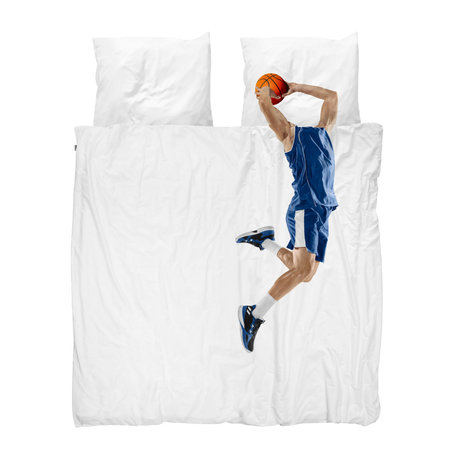 Snurk Beddengoed Dekbedovertrek Lits-jumeaux Basketball Star Blue Multicolor Katoen 240x200/220cm