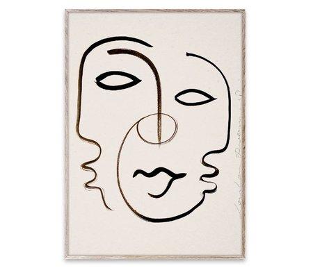 Paper Collective Poster wir sind ein Schwarz-Weiß-Papier 70x100cm