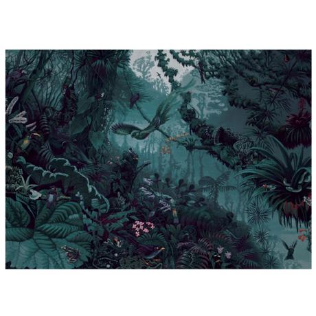 KEK Amsterdam Behang Tropical Landscapes Blauw Groen Vliesbehang 194,8x280cm (8 sheets)