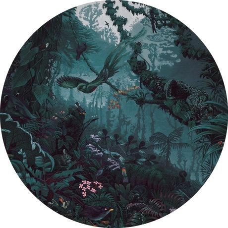 KEK Amsterdam Behangcirkel Tropical Landscapes Blauw Groen ø190cm