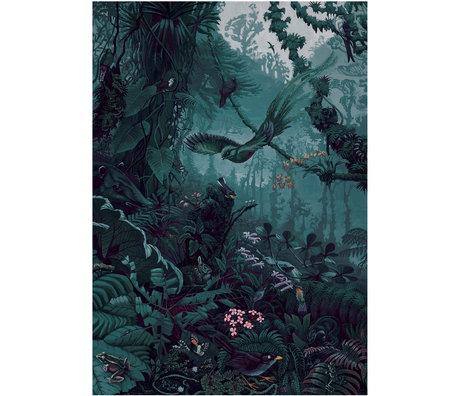 KEK Amsterdam Behang Tropical Landscapes Blauw Groen Vliesbehang 194,8x280cm (4 sheets)