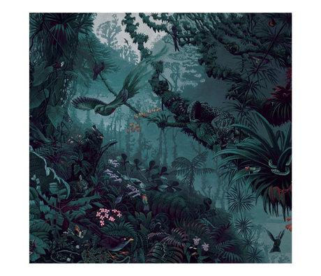 KEK Amsterdam Behang Tropical Landscapes Blauw Groen Vliesbehang 194,8x280cm (6 sheets)