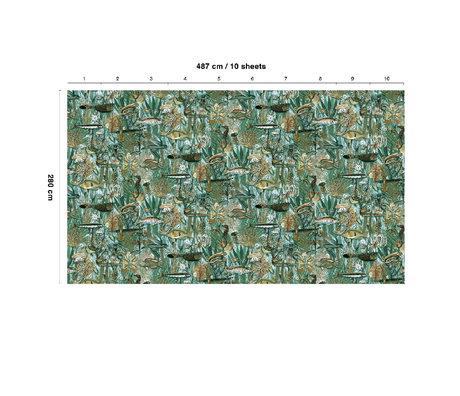 KEK Amsterdam Behang Underwater Jungle Multicolor Vliesbehang 487x280cm (10 sheets)