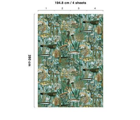 KEK Amsterdam Behang Underwater Jungle Multicolor Vliesbehang 194,8x280cm (4 sheets)