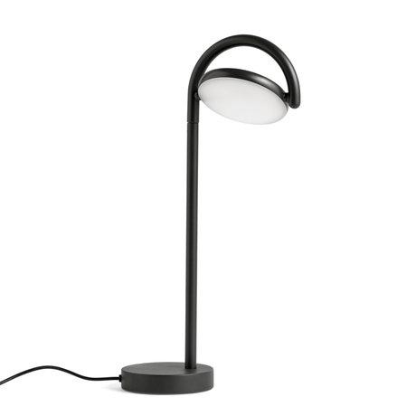 HAY Tafellamp Marselis Zwart Gepoedercoat Aluminium 20x10x38cm
