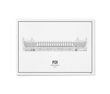 Poster PSV Zwart Wit Papier 50x70cm