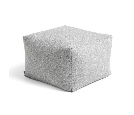 HAY Poef Grey Sprinkle Textiel 59x59x40cm