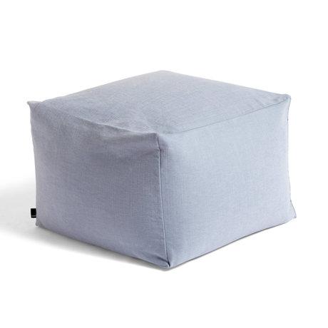 HAY Poef Soft Blue Textiel 59x59x40cm
