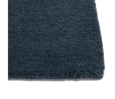 HAY Vloerkleed Raw NO. 2 Donkerblauw Wol Katoen 200x300cm
