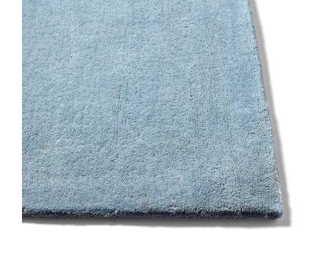 HAY Vloerkleed Raw NO. 2 Lichtblauw Wol Katoen 200x300cm