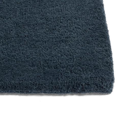 HAY Vloerkleed Raw NO. 2 Donkerblauw Wol Katoen 240x170cm
