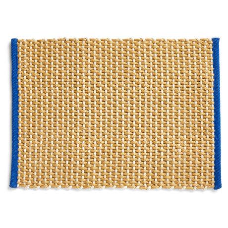 HAY Deurmat Yellow Blue Textiel 50x70cm