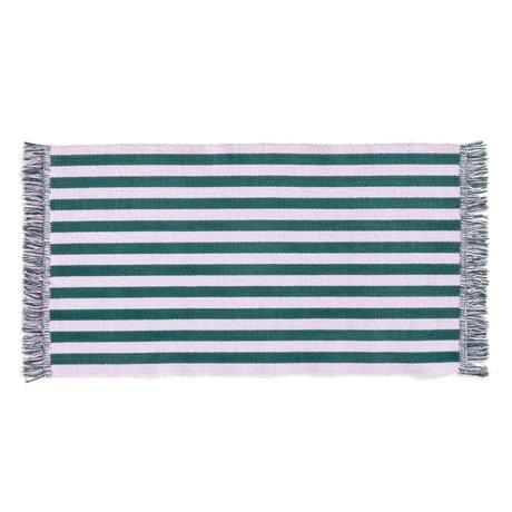 HAY Vloerkleed Stripes And Stripes Small Lila Groen Katoen 95x52cm