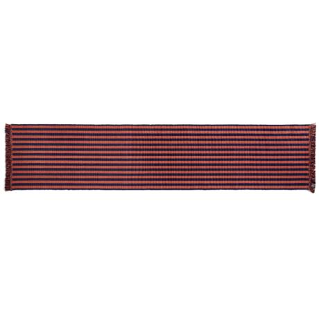 HAY Vloerkleed Stripes And Stripes Bruin Paars Katoen 300x65cm